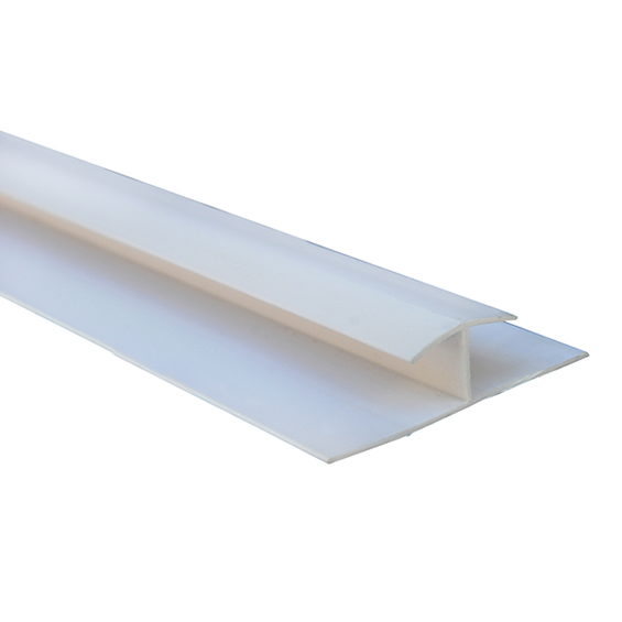 Perfil H para revestimiento PVC alveolar